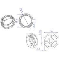 Koppelingset 8-kant, 60mm voor motor 45mm
