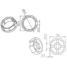 Koppelingset 8-kant, 60mm voor motor 45mm (100401) Toebehoren en Onderdelen by www.svn-systems.be